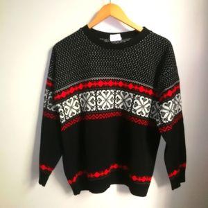 VINTAGE Fair Isles Christmas Crewneck Sweater